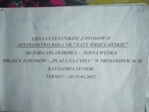 Mistrzostwo Ko�a 2012r.